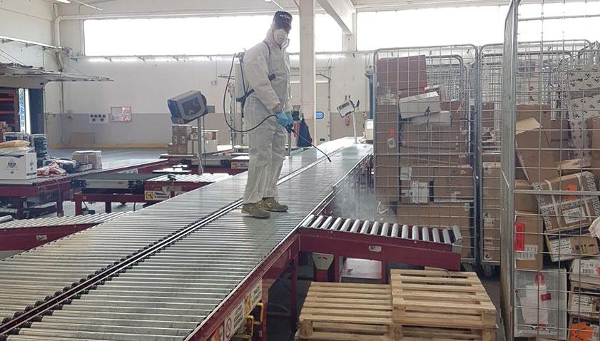Sanificazione centro logistico Covid19
